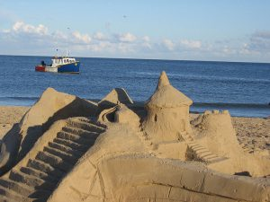 The Magdalen Islands are home to the largest amateur sandcastle building event in the world. Photo by: Benoit Rochon CC BY 3.0