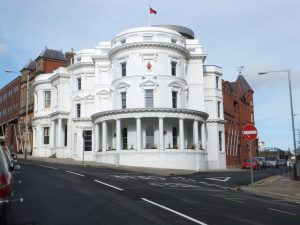 Tynwald Building, Douglas (The Wedding Cake Building) Copyright Richard Hoare CC BY-SA 2.0