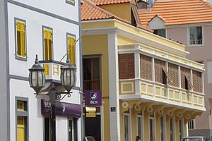 Mindelo houses Photo by: Quiebrajano CC BY-SA 3.0