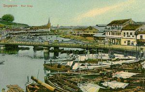 Singapore Boat Quay ca. 1900