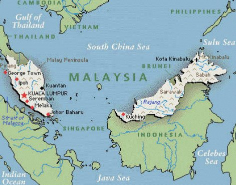 Malaysia map Credit: Ryan Reddy CC BY 2.0