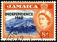 Jamaica stamp, Independence 1962