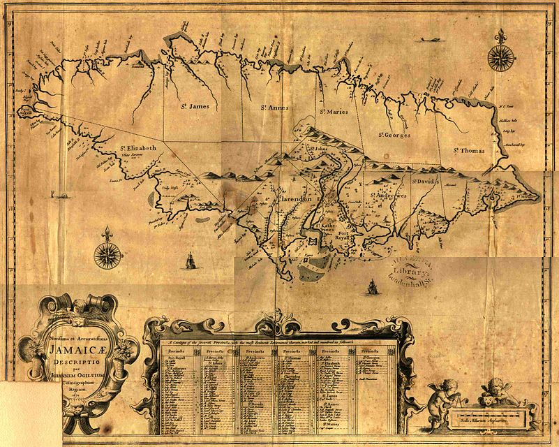 Jamaica map, 1671