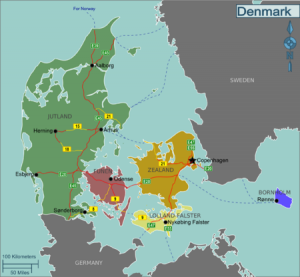 Denmark map Credit: Stefan Ertmann, amendments by Claus Hanson CC BY-SA 2.0